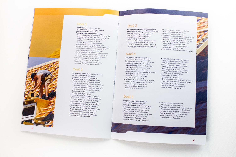 Ontwerp wijkcontracten Gemeente Enschede, spread 'doelen' | Studio Index