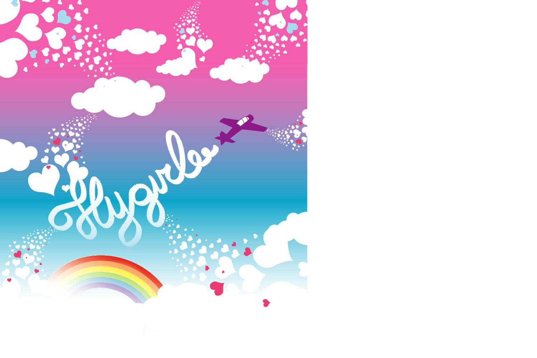 Ontwerp prints Tastik fietstassen, uitgelichte illustratie 'flygirl' | Studio Index