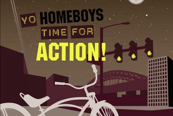 Ontwerp prints Tastik fietstassen, illustratie uitgelicht 'homeboys' | Studio Index